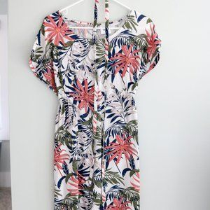 Tropical Floral Print Maternity Shift dress